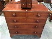 Sale 8666 - Lot 1050 - Early 19th Century Mahogany Chest of Five Drawers, with reeded edge & on bracket feet