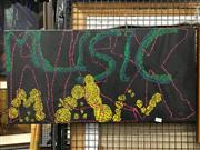 Sale 8779 - Lot 2097 - Urban Aboriginal Dot Painting - ALEX, MUSIC, MAN