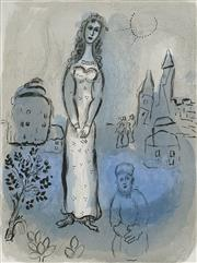 Sale 9084A - Lot 5118 - Marc Chagall (1887-1985) - Esther (Drawings from The Bible) 35.5 x 26 cm (frame: 66 x 77 x 2 cm)
