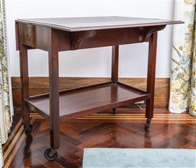 Sale 9195H - Lot 14 - A mahogany tray mobile, Height 74cm x Width 76.5cm