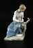 Sale 3803 - Lot 707 - A LLADRO STYLE FIGURE OF A GIRL