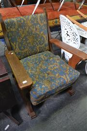 Sale 8093 - Lot 1553 - Pair of Timber Framed Armchairs