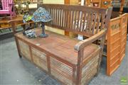 Sale 8262 - Lot 1064A - Timber Lift Top Bench Seat