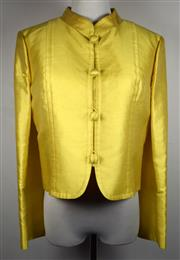 Sale 8460F - Lot 78 - A Luisa Zee Chinese yellow silk jacket with Mandarin collar, size 40