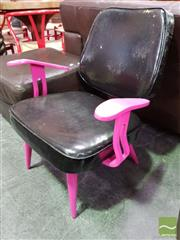 Sale 8550 - Lot 1195 - Pink and Black Lounge Chair