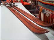 Sale 8680 - Lot 1074 - Pair of Vintage Rossignol Hickory Cross Country Skis