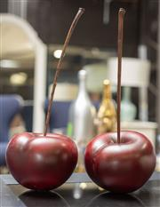 Sale 8709 - Lot 1044 - A pair of oversized prop cherries, total height 51cm