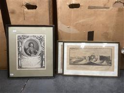 Sale 9101 - Lot 2052 - Group of Assorted 18th Century Engravings of English Town Scenes & Italian Aristocrats