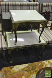 Sale 8398 - Lot 1070 - Ornate Side Table w Similar Example