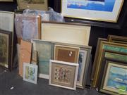 Sale 8483 - Lot 2051 - Group of Assorted Original Artworks and Decorative Prints and Assorted Framed Tapestries
