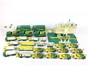Sale 8559A - Lot 20 - Vintage Matchbox BP Service Station MG-1, with 27 extra vehicles, unboxed