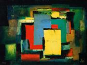 Sale 8583 - Lot 555 - Kevin Charles (Pro) Hart (1928 - 2006) - Abstract, 1977 45 x 60.5cm