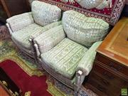 Sale 8566 - Lot 1491 - Pair of Upholstered Armchairs