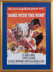 Sale 8677B - Lot 888 - A gilt framed movie poster, Gone with the Wind, 103 x 86cm