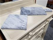Sale 8760 - Lot 1043 - Two Graduated Grey Marble Cheese Boards