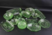 Sale 8815 - Lot 6 - Uranium Glass Collection Incl Serving Trays