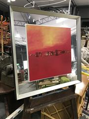 Sale 8896 - Lot 1088 - Abstract Art Framed in Mirror