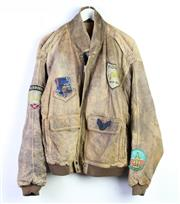 Sale 8952 - Lot 87 - A Vintage Leather US Airforce Bomber Jacket (Size Large)