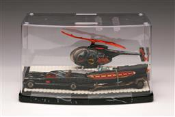 Sale 9114 - Lot 29 - A cased toy Bat mobile with Bat copter and boat