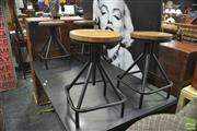 Sale 8341 - Lot 1034 - Set of Four Square Based Swivel Stools