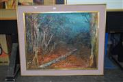 Sale 8419T - Lot 2019 - Lyn Aootay (XX)  Living Forest, Blue Mountains, oil on canvas board, 60 x 76cm, signed lower right