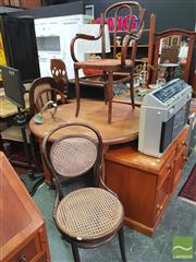 Sale 8455 - Lot 1033 - Various Bentwood Chairs x 3