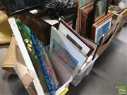 Sale 8449 - Lot 2080 - Large Collection of Artworks, Frames & Mirrors