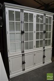 Sale 8489 - Lot 1010 - Large White Sideboard Bookcase with External Locking System (H 237 x W 212 x D 45cm)