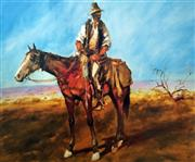 Sale 8507A - Lot 5023 - Hugh Sawrey (1919 - 1999) - Sid Kidman Cattle King 45 x 54cm (sheet size)