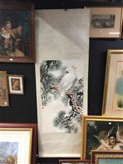 Sale 8771 - Lot 2078 - Oriental Scroll Depicting Cockatoo