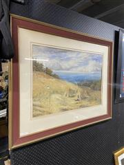 Sale 8927 - Lot 2091 - B Palmer - The Harvest and Distant View of Townwatercolour and gouache, 51 x 71cm, signed lower right