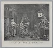 Sale 9080J - Lot 170 - A Hogarth engraving The Distrest Poet published 1748, this the Heath edition 1822 was the last time the original Hogarth plates we...