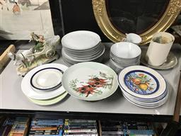 Sale 9106 - Lot 2465 - Collection of Sundries incl dinnerware, etc.