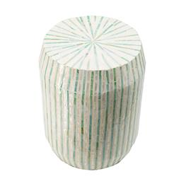 Sale 9140F - Lot 115 - A cylindrical capiz stool with curved edges and a stylish striped pattern. Dimensions: W35 x D35 x H45 cm