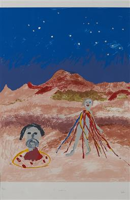 Sale 9141A - Lot 5057 - SIDNEY NOLAN (1917 - 1992) Salome lithograph ed. 42/150 64 x 96cm (frame 105 x 72 x 3 cm) signed lower right