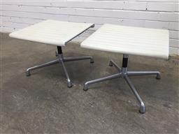 Sale 9151 - Lot 1324 - Pair of Eames style foot stools (h:40 x w:50 x d:50cm)