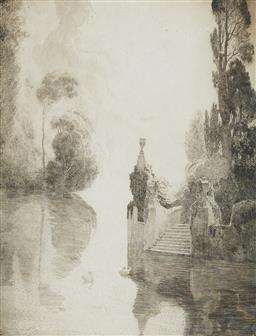 Sale 9178 - Lot 564 - NORMAN LINDSAY (1879 - 1969) Release, 1925 etching, ed. 31 33 x 25 cm (frame: 51 x 40 x 2 cm) signed and dated lower right