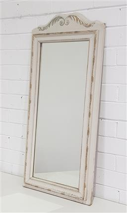 Sale 9188 - Lot 1313 - Painted timber framed mirror (94x42cm)
