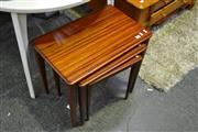 Sale 8039 - Lot 1059 - Nest of 3 Timber Tables