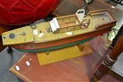 Sale 8115 - Lot 1161 - Timber Model Boat