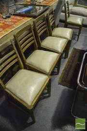 Sale 8364 - Lot 1024 - Set of Six Teak Ladderback Chairs with Drop-in Seats