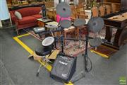 Sale 8499 - Lot 1364 - Roland TD-3 Percussion Sound Module Electronic Drum Kit with Amplifier and accessories (good working order)