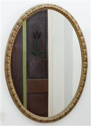 Sale 8515A - Lot 4 - An oval gilt framed mirror together with a smaller example, taller H 55cm