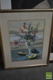 Sale 8537 - Lot 2040 - H. Dorrough, Still Life - Landscape, 1992, watercolour and gouache, frame size: 65 x 52cm, signed and dated lower right