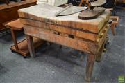 Sale 8550 - Lot 1085 - Vintage Worn Butchers Block