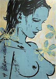 Sale 8695A - Lot 5099 - David Bromley (1960 - ) - Romy with Flowers 110 x 75cm