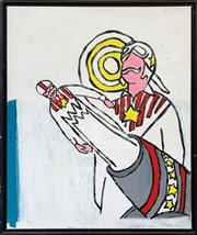 Sale 8961 - Lot 2063 - Artist Unknown Daredevil 2006 acrylic on canvas, 63 x 53cm (frame), signed and dated verso