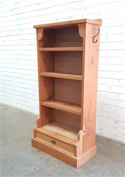 Sale 9108 - Lot 1003 - Timber bookcase with single drawer below (h140cm)