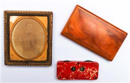 Sale 9144 - Lot 438 - Two Bakelite items to include Ferrotype photograph