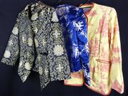 Sale 7982B - Lot 181 - Three dinner jackets all with Oriental print